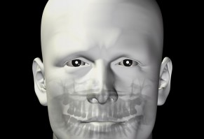 adult male dental scan