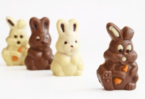 black and white easter bunnies